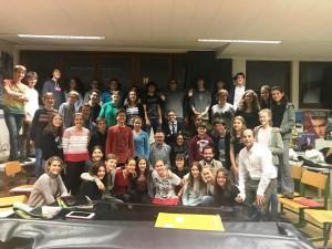 foto con todos en Musikzimmer